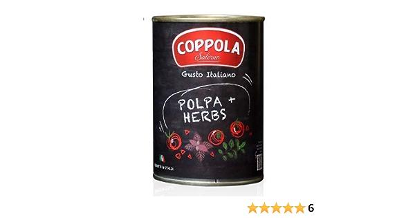 Coppola POLPA + Hierbas, Tomates Picados con Hierbas 400g (Caja de 12)