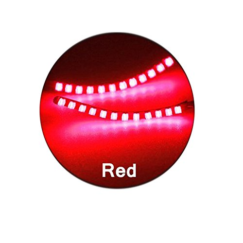 BOXMO LED Lashes Interactive Eyelashes Light,Shining Charming for Party,Bar,NightClub,Concerts,Birthday,Halloween,Christmas Ornament;Music Control Mode And Switch Mode (Red)