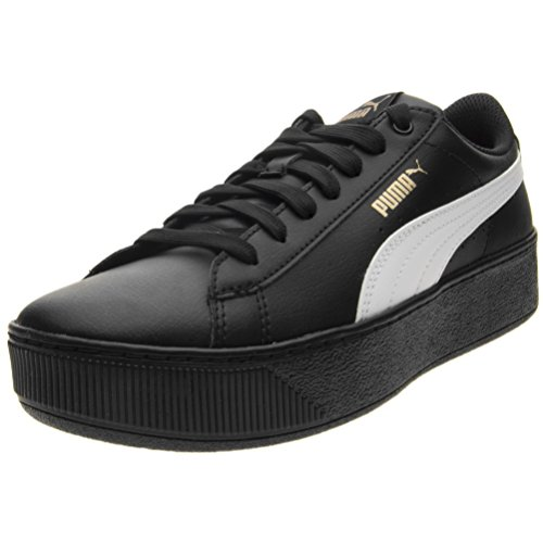 Liscia Donna Alta white Black Sneaker Pelle Vikky Platform Puma SL UqXvxg