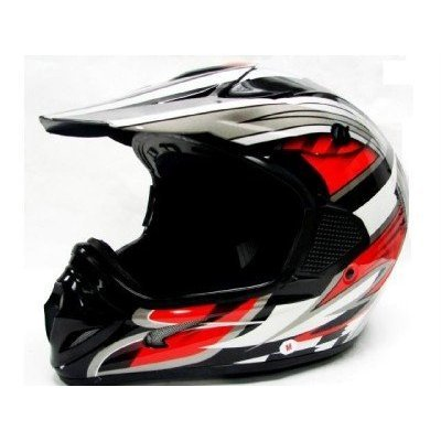 Helmet Xl Extra Large (TMS Adult Tms RED Black Dirt Bike ATV Motocross Helmet Off-road (Extra Large))