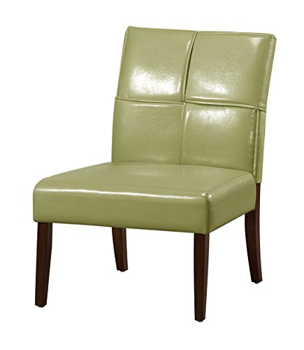 Homelegance 1215GRS Armless Accent Chair, Lime Green Bi-Cast Vinyl