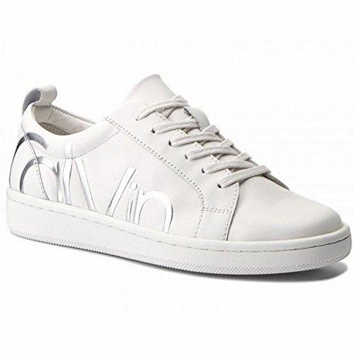 Calvin Klein Calvin Klein Danya Cow Silk Platinum White E5827pli - Zapatillas de Deporte de Otra Piel Mujer