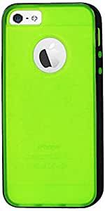 Reiko Protector Cover Pc Sides Plus Tpu for iPhone 5 - Retail Packaging - White Clear Green