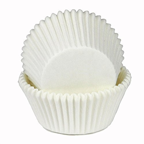 Chef Craft Parchment Paper Cupcake Liners, White (200 Pack) by Chef Craft