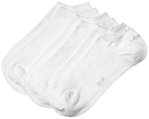 s.Oliver Unisex - Erwachsene Sneakersocke 3 er Pack, S24001, Gr. 39-42, Weiß (01 white)