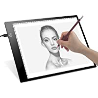 LED Tracing Light Box- Dreamore Ultrathin A4 Light Board for Tracing, Drawing with Adujustable Brightness (USB Powered, 5mm Thickness)