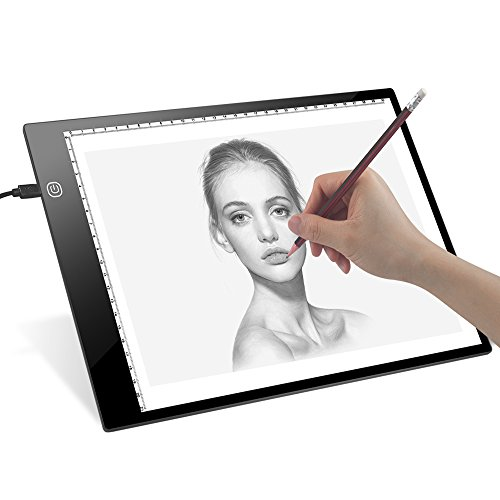 Review Tracing LED Light Box- Dreamore Ultrathin A4 Light Board for Tracing, Drawing with Adujustabl...