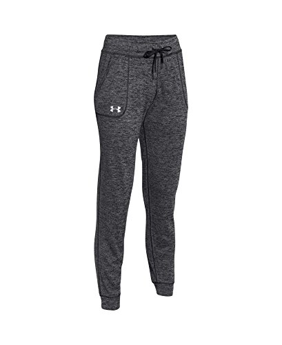888728534560 - Under Armour Women's Twisted Tech Pant,Black/Metallic Silver, X-Large carousel main 3