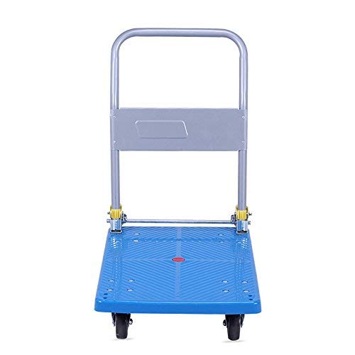 Zehaer Portable Trolley, ZGL Trolley Multifunction Silent Flatbed Truck 4 Rounds Trolley Handling Trolley Pull Goods Trailer Light Trolley Hand Car (Size : S) (Size : Large) by Zehaer (Image #4)