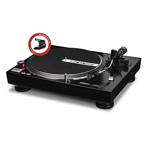 Reloop RP-2000-M DJ Turntable with Quartz Driven Direct Drive, Metallic Black