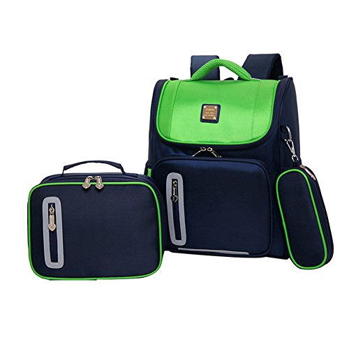 Kids Backpacks for School Bags for Boys Girls Bookbags and Pencil Lunch Box HHui (Green)