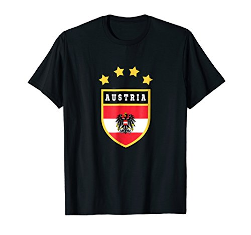 Austria T-shirt Coat of arms Tee Flag souvenir Vienna
