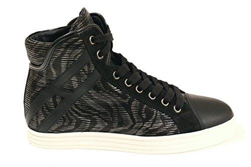 Hogan Rebel Hi Top Sneakers Donna HXW1820Y651DYC0803 Camoscio Nero