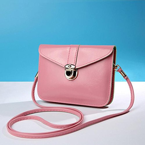 Phone Leather Bag Bag Bluester Pink Messenger Fashion Shoulder Purse Handbag Zero Single xqvRIvwz