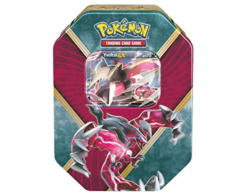(Pokemon Trading Card Game: 2016 Summer Shiny Kalos Tin- Yveltal-EX- With 4 Booster Packs and 1 Special Foil EX Card!)