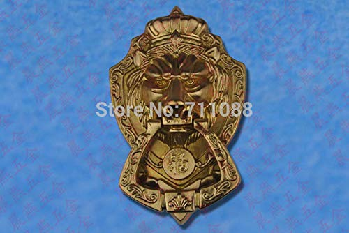 Antique Chinese Yuan Fu lion head door handle knocker handle unicorn beast