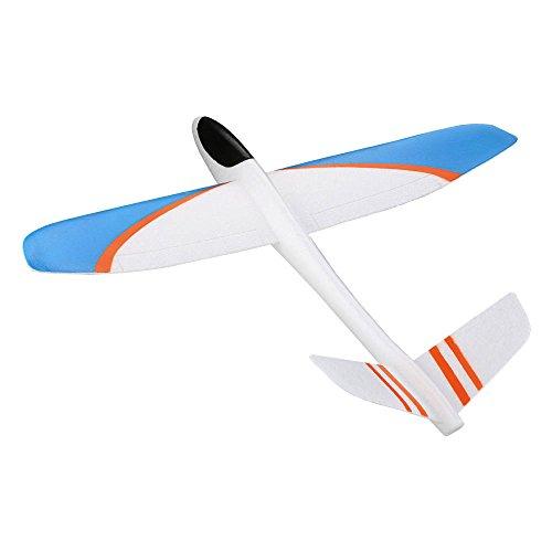 - ZUINIUBI Throwing Glider Inertia Plane Foam Aircraft Toy Outdoor Sports Warcraft Model Assembly Airplane Toy for Kids Children Boy Gift color random