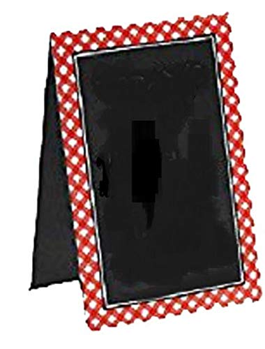 Delightful Picnic Party Red Plaid Chalkboard Tent Cards Decoration, Paper, 4