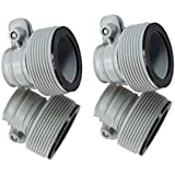 """INTEX 1.25"""" to 1.5"""" Type B Hose Adapters Pumps & Saltwater System (Set of 4)"""