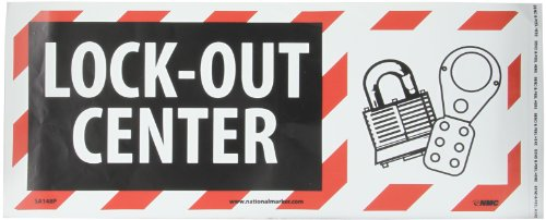 [NMC SA148P Lockout-Tagout Sign, Legend