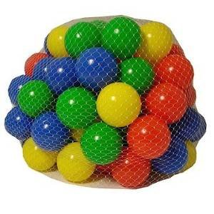 Childrens Plastic Play Balls for Ball Pits Pool Bouncy Castle Multicoloured Toys 200 Balls