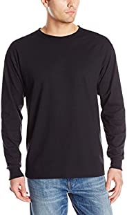 KLJR-Men Soft Stretch Long Sleeve Athletic Muscle Cotton T Shirt Grey US XL