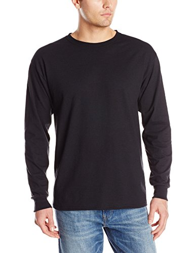 Jerzees Men's Long-Sleeve T-Shirt, Black, Large