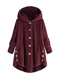 Sevozimda Womens Faux Fur Outwear Coats Hoodie Teddy Irregular Fuzzy Jackets Outcoat
