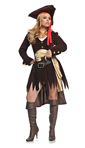 [Underwraps Costumes  Women's Sexy Pirate Costume - Shipwreck, Brown/Gold/White, X-Large] (Jack White Halloween Costume)
