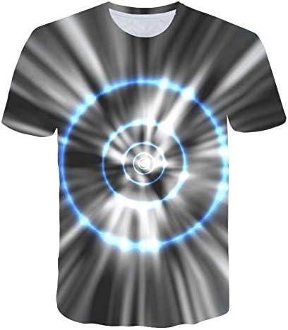 MKDLJY Camisetas Sonido Activado Camiseta Led Luz Arriba y Abajo Camiseta Ecualizador Intermitente Hombres para Rock Disco Party DJ Camiseta con Cuello o: Amazon.es: Deportes y aire libre