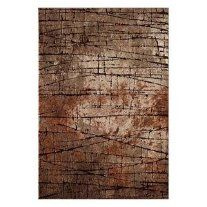 Central Oriental Polyester - Central Oriental 9701.51.51 Rainier Beaverhead Polypropelene & Polyester Blend Rug44; Brown - 5 ft. x 7 ft. 3 in.