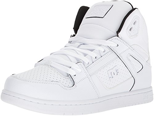 (DC Men's Pure HIGH-TOP SE Skate Shoe Black/White, 13 D US)