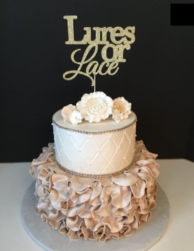 Lures or Lace Cake Topper
