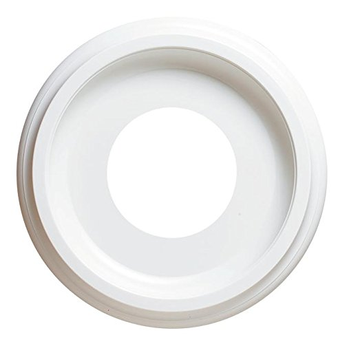 10 Inch Molded Plastic Ceiling White Finish Medallion for Light Fixtures and Ceiling Fans