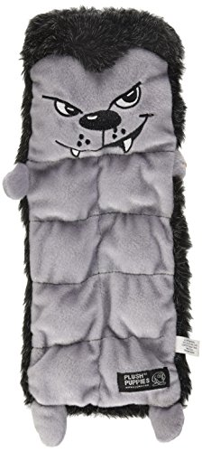 Outward Hound Kyjen  2558 Squeaker Mat Halloween Wolf 8 Squeaker Plush Squeak Toy Dog Toys, Medium, Grey Kyjen Plush Squeak Mat