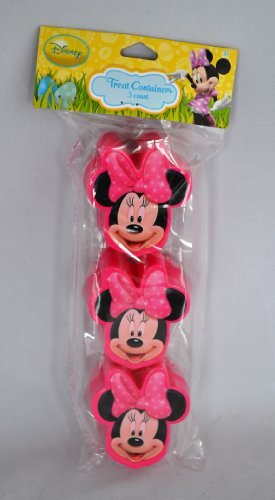 3 Minnie Mouse Treat Containers for Easter Basket