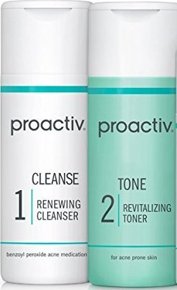 2PC SET Proactive CLEANSE + TONE ( Renewing Cleanser + Revitalizing Toner ) 4fl oz 120mL 60day