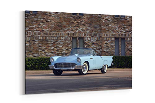 Ford Thunderbird F Code Special Supercharged 1957 - Canvas Wall Art Gallery Wrapped 26