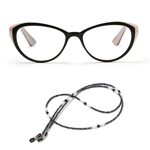 MIDI Cat Eye Vintage Reading Glasses for Women (M-103) Designed in Japan/Fine Spring Hinge for Comfort fit/with Eyeglass Holder Strap Cord and Soft case (+1.25, Pink) (m103c1125) from MIDI ミディ