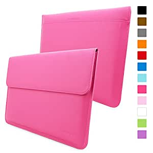 Macbook Pro 15 Case, Snugg™ - Leather Sleeve with Lifetime Guarantee (Hot Pink) for Apple Macbook Pro 15