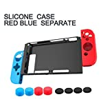 Cheap Nintendo Switch Case Cover- Silicone Shockproof Protective Back Case for Nintendo Switch Plate, With Console Joy-Con Protective Skins and 8 Anti-Slip Thumb Grips, 11 in 1 set