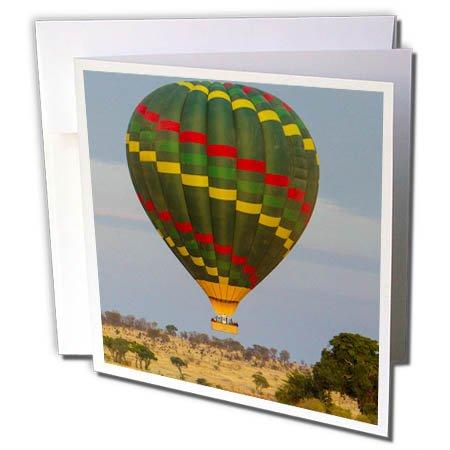 3dRose Danita Delimont - Travel - Tanzania, Serengeti NP. Hot air balloon over the Mara River. - 6 Greeting Cards with envelopes (gc_276592_1)