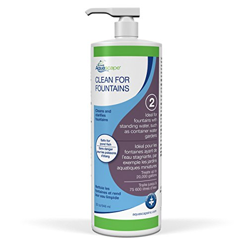 Aquascape CLEAN Water Treatment for Fountains, Waterfalls, Container Water Gardens and Other Features with Standing Water, Promotes Clean and Clear Water Conditions, 32 ounce/946-ml | (Water Garden Treatment)