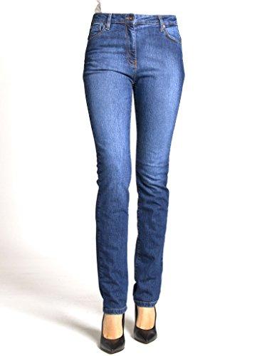 look Medio Blu a modello Jeans alta sigaretta 753 vita Jeans Wash per elasticizzato denim Stone Lavaggio tessuto normale vestibilità donna Carrera 701 wH8AxSUw