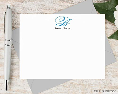 (ELEGANT MONOGRAM - Personalized Flat Professional Stationery/Stationary Set)