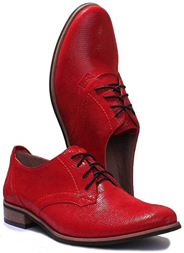 Justin 3010 Stringate Reece Red Scarpe Donna B7wTZ8Bq