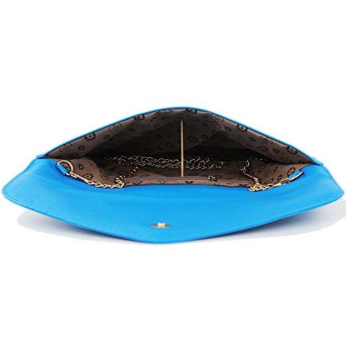 Pochette di spalla del Donna Imentha delle Donna modo di della Satchel Tote Blue donne Crossbody messaggero Clutch signora Sacchetto del borsa nuove 4wwq5SxHC