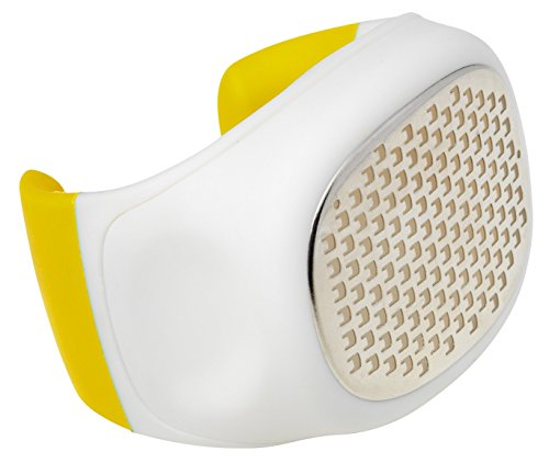 Chef'n Palm Zester/Citrus Zester Grater with Stainless Steel Blades, Yellow ()