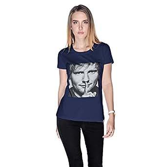 Creo Ed Sheeran T-Shirt For Women - L, Navy Blue