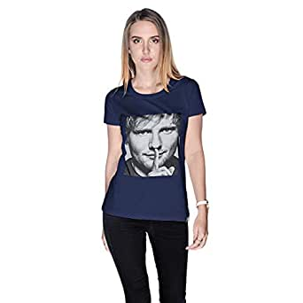 Creo Ed Sheeran T-Shirt For Women - S, Navy Blue